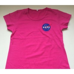 BABYLOOK ROSA PINK COM LOGO DA NASA